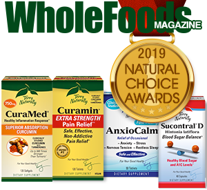 2019 WholeFoods Magazine Natural Choice Award Winner!