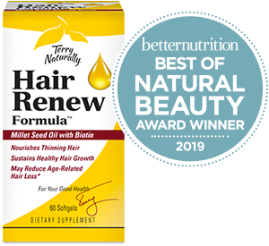 Hair Renew Formula winner of 2019 Better Nutrition's Best of Natural Beauty