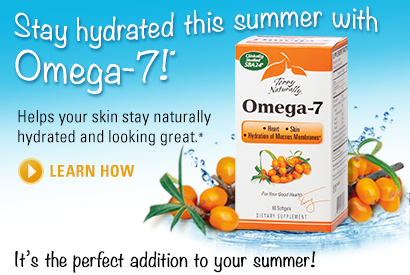 Stay hydrated this summer with Omega-7!*